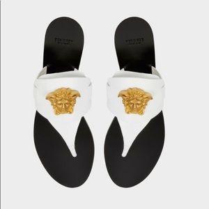 VERSACE Palazzo Leather Thong Sandal